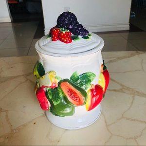 Fruit cookie jar